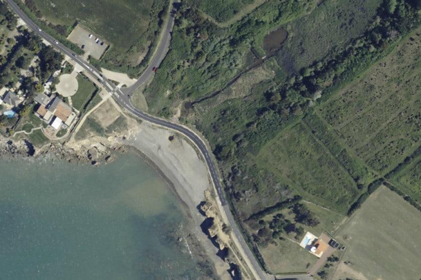 Photo aérienne de la Baie de Cayola au Château d'Olonne