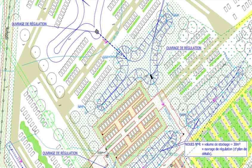assainissement eaux pluviales du cimetière de la FERRIERE dans le cadre d'un dossier Loi sur l'Eau