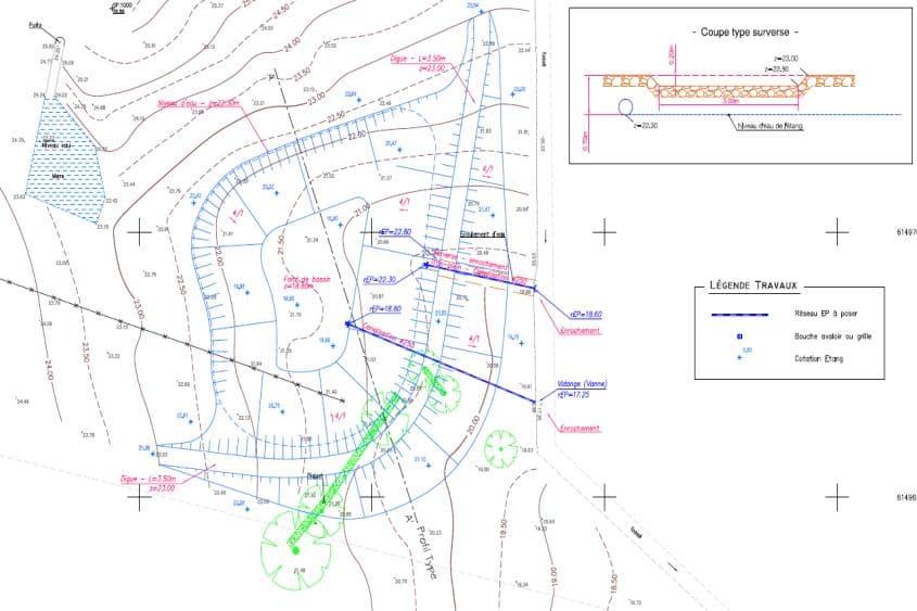 création d'un plan d'eau à usage d'irrigation dans le cadre d'un dossier Loi sur l'Eau